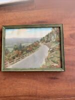 """The Mohawk Trail"" by Charles Sawyer Hand Tinted Photograph Vtg Framed"