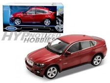 WELLY 1:24 BMW X6 DIE-CAST RED 24004