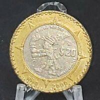 "Ano 2000 MEXICO $20 Pesos, Aztec ""New Fire"" Ceremony"
