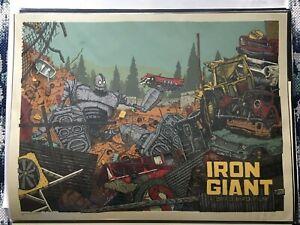 Mondo Iron Giant Poster Screenprint by LandLand Print Movie Film Land Land