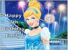 Disney Princess Cinderella Personalised A4 Cake Topper Edible Wafer Paper