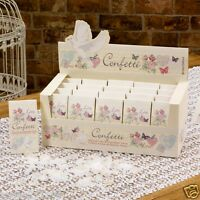 New wedding with love biodegradable tissue paper box of 20 confetti