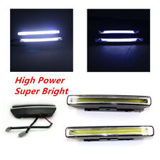 2X Super Bright Car 20W COB 6000K Xenon White LED DRL Driving Fog Lights White