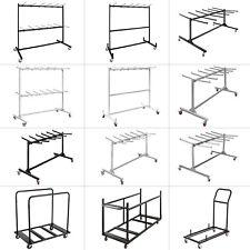 Folding Chair Cart Dolly Foldable Seat Table W/ Wheel Caddy Folding Chair Rack