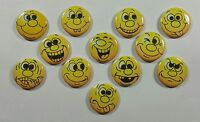 "Wholesale Party Set 24 1.25"" Handmade Pinback Buttons Badge Funny Faces-1"
