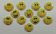 """Wholesale Party Set 24 1.25"""" Handmade Pinback Buttons Badge Funny Faces-1"""
