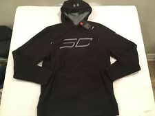 NWT $69.99 Under Armour Mens SC30 Logo Fleece Hoodie Black Sz Medium