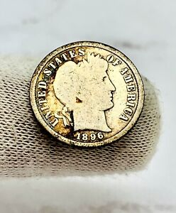 1896-S Barber Silver One Dime 10 Cents 10C Coin