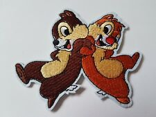 Chip N Dale Chipmunk characters Iron On Patch Sew On Transfer badge Brand New