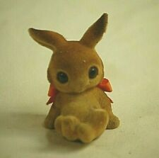 Old Vintage Josef Originals Furry Flocked Fuzzy Easter Bunny Rabbit Japan Mcm