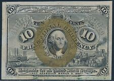 Fr1244 10¢ 2Nd Issue W/O Surcharges @ Back (# @ T.L.) Very Choice Gem Cu Bt700