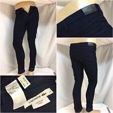 Lacoste Alligator Pants Sz 29 Blue Cotton Lycra Cords Skinny Worn 1x YGI B8-259