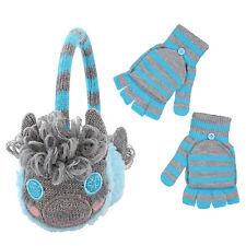 PEAK 2 PEAK Girls Lama Winter Earmuff And Convertible Fingerless Glove Set