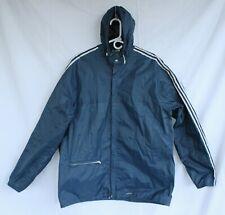 Vintage ADIDAS Nylon Hooded Blue 3Stripes Windbreaker Jacket Men's XL