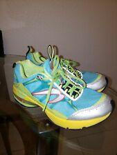 Newton Womens 02210 Aqua Green Lime Trail Running Sneakers Sz 8.5