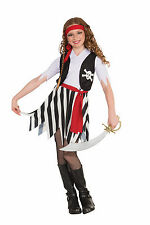 GIRL'S BUCCANEER PIRATE HALLOWEEN COSTUME CHILD SIZE SMALL