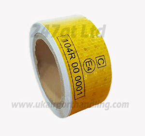 EC 104 -R YELLOW REFLECTIVE CONSPICUITY TAPE 50mm x 10M METERS