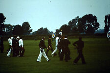 Vintage Slide Negative Photo: Archery Sports, Group of men walking on a field