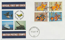 2424 1974 Great Britons - Medieval Knights British Forces Postal Services FDC