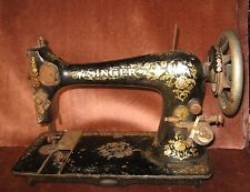 For Parts Antique Singer Sewing Machine
