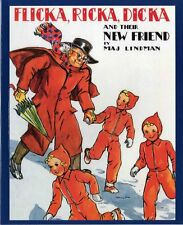Flicka, Ricka, Dicka and Their New Friend by Maj Lindman (1995, Paperback)