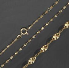 Goldkette 333 Plättchenkette 45 cm diamantiert