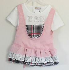 BABY BEAR Size 12 Months Multi-Color Short Sleeve Layered Plaids & Checks Dress