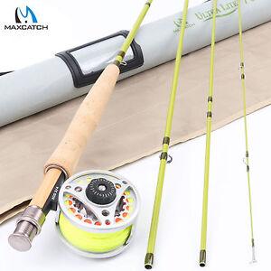 3WT Fly Fishing Rod Combo 7FT 4SEC Fly Rod & 3/4WT Aluminum Fly Reel & Fly Line