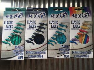 SHOEPS Elastic Laces Elastische Silikon Schnürsenkel - 22 Farben, 8 bzw 14 Stück