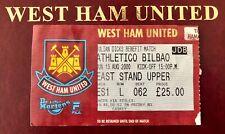 More details for very rare west ham vs bilbao testimonial match ticket julian dicks - 13/08/2000