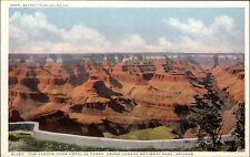 Grand Canyon National Park Arizona USA Color AK 1920/30 view from Hotel El Tovar