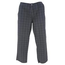 Oakley Prepster Pants Mens Size 34 L Black Casual Dress Cotton Plaid Golf Pant