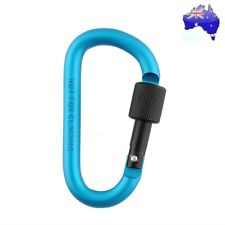 Aluminum Carabiner D-Ring Screw Key Chain Clip Snap Hook Camping Keyring NEW