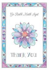 Thank You Card Flower in the Irish Lanuage - Go Raibh Maith Agat