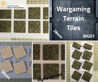 28mm War Game Terrain Scenery  - Tiling Casting Mould - WG01 - WWII