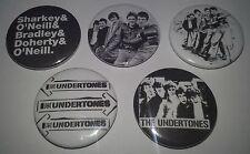 5 Undertones button Badges punk UK Subs Cockney Rejects Sex Pistols The Clash