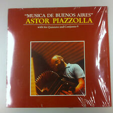 LP - Astor Piazzolla - Musica de Buenos Aires - with his Quinteto and Conjunto 9