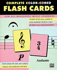 Complete Colour Coded Flash Cards For Beginning Music Students Alfred NEW
