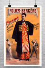 Chang The Giant Vintage Paris Sideshow Poster Giclee Print on Canvas or Paper