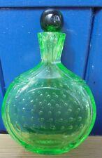 ANCIENNE TABATIÈRE SNUFF BOTTLE EN OURALINE URANE GLASS D2721