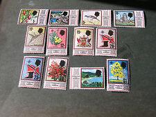 TRINIDAD & TOBAGO, SCOTT # 144-147(4)+149+151-159(9),1969 QE2 PICTORIAL ISS USED
