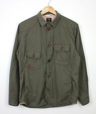 Paul Smith Khaki Green Mens Lightweight Military Style Long Sleeve BTN Jacket S