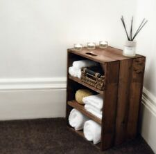 Bathroom / Bedroom Rustic Wooden Storage Cabinet, from Crates4You