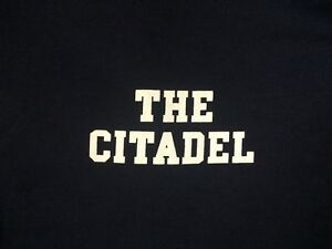Citadel Bulldogs Long Sleeve T-Shirt - Navy - 100% Cotton (Military/College)