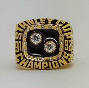 Year 1992 Pittsburgh Penguins Stanley Cup Championship Copper Ring 8-14Size