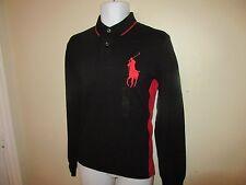 Chemise homme Ralph Lauren Polo Shirt à Manches Longues Noir/Rouge Taille M