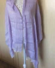 """LADIES SCARF - MAUVE - APPROX 24"""" X 72""""  SMALL FRINGE"""