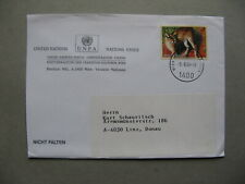 UNITED NATIONS VIENNA, cover 2000, stamp Caracal, cat