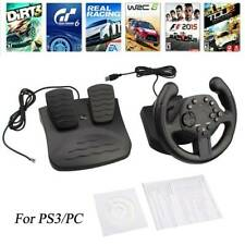 Steering Wheel Controller PC Joystick Gamepad Gaming Racing w/ Pedals For PC PS3