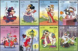 Sierra Leone 1990 Disney/Mickey/Cartoons/London/StampEx/Animation 8v set (b244t)